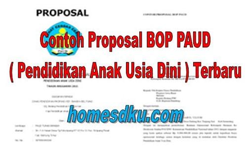 Contoh Proposal BOP PAUD ( Pendidikan Anak Usia Dini ) Terbaru