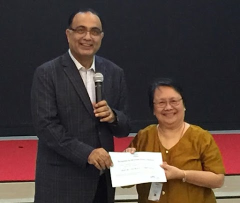 NISMED Congratulates Mrs. Lucille Gregorio  as ICASE Awardee