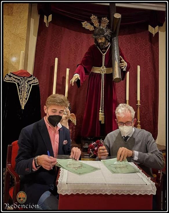 José Antonio Grande de León restaurará la túnica de salida del Cristo de la Redención de Huelva