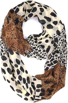 The Best Leopard Pattern Sheer Chiffon Scarf