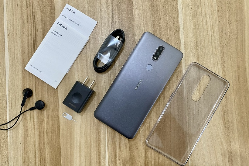 Nokia 2.4 Review + Unboxing: Items