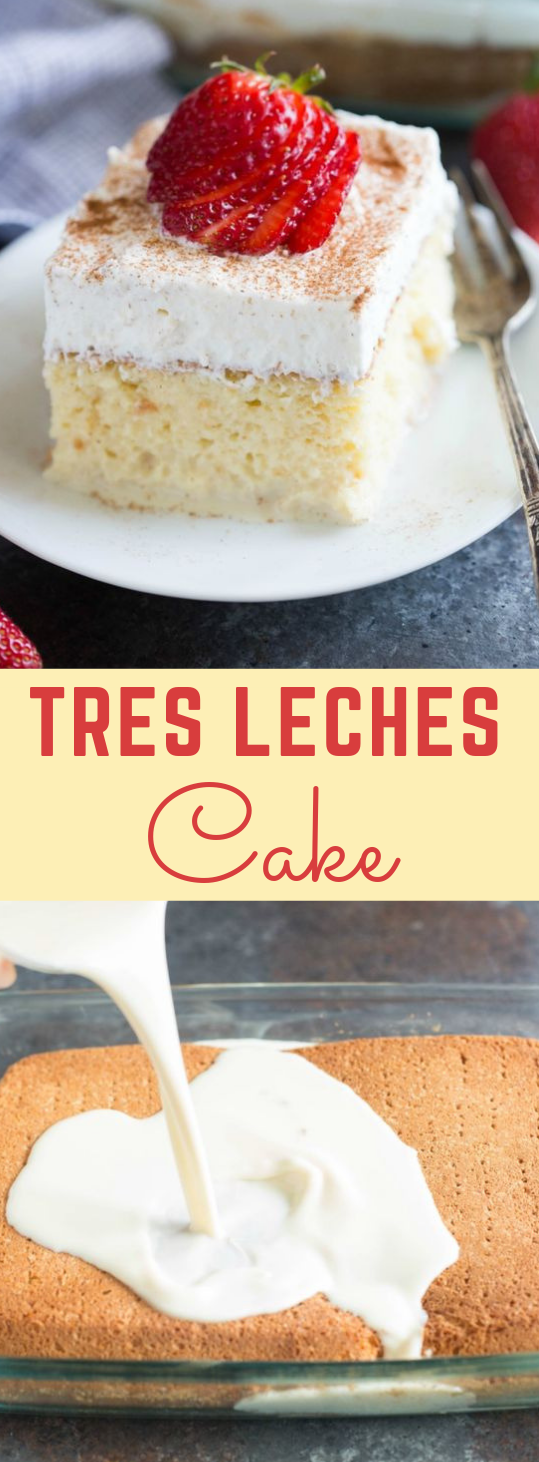 TRES LECHES CAKE #cake #dessert #brownies #recipes #yummy