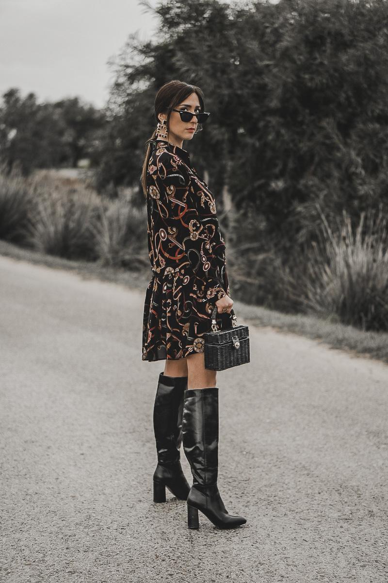 vestido estampado versace - nueva temporada 2019