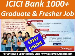 ICICI Bank Recruitment 2019 Notification