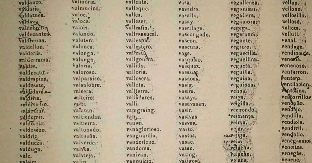 Filipino Genealogy Project: Spanish Rules on Alphabetizing Surnames