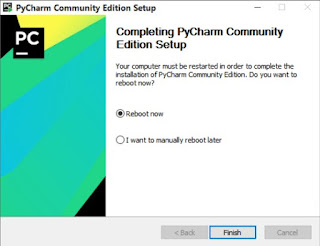 pycharm community installation process has been completed