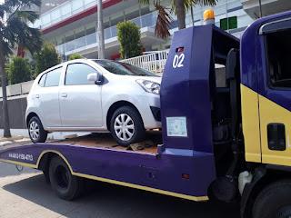 Pengiriman Mobil Menggunakan Towing Atau Yang Sering Disebut Dengan Derek Gendong Dari Jakarta Sampai Pemalang Jawa Tengah.
