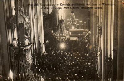 Msza w katedrze 9.02.1919