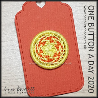 Day 350 : Catherine Wheel II - One Button a Day 2020 by Gina Barrett