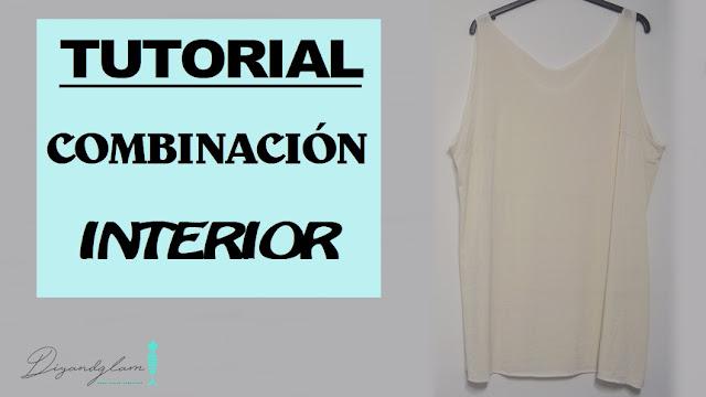 tutorial vestido interior combinación