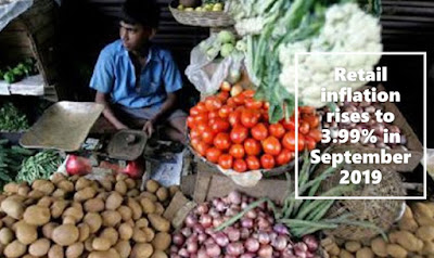 Retail inflation rises to 3.99% in September at the highest level of 14 months