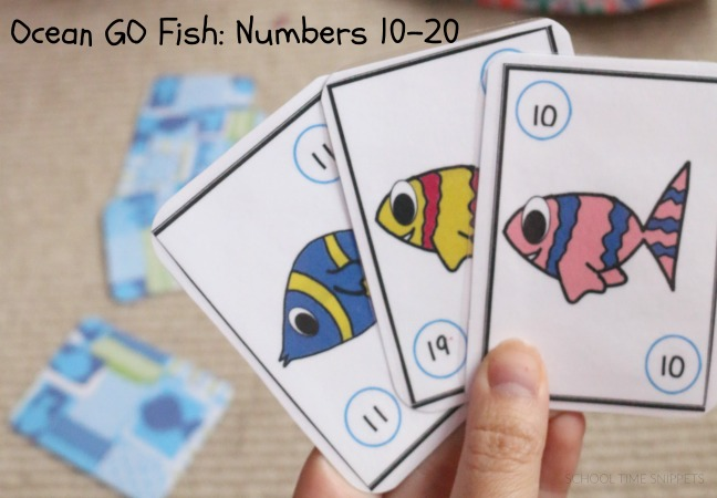 printable go fish cards to learn numbers to 20