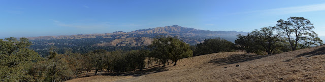 stretching out from one end of Mount Diablo to the other