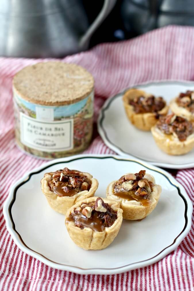 Pecan caramel tassies with sea salt