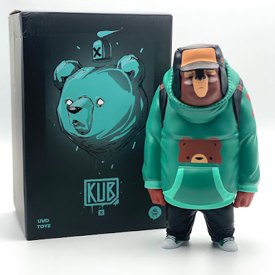 Strangecat Toys Exclusive KUB Teal Edition Vinyl Figure by Mike Fudge x UVD Toys