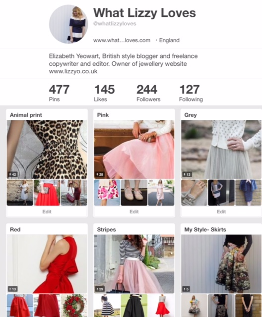 What Lizzy Loves, Pinterest
