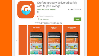 Grofers app and Click the download