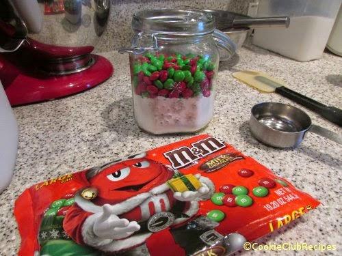 add M&M's candies
