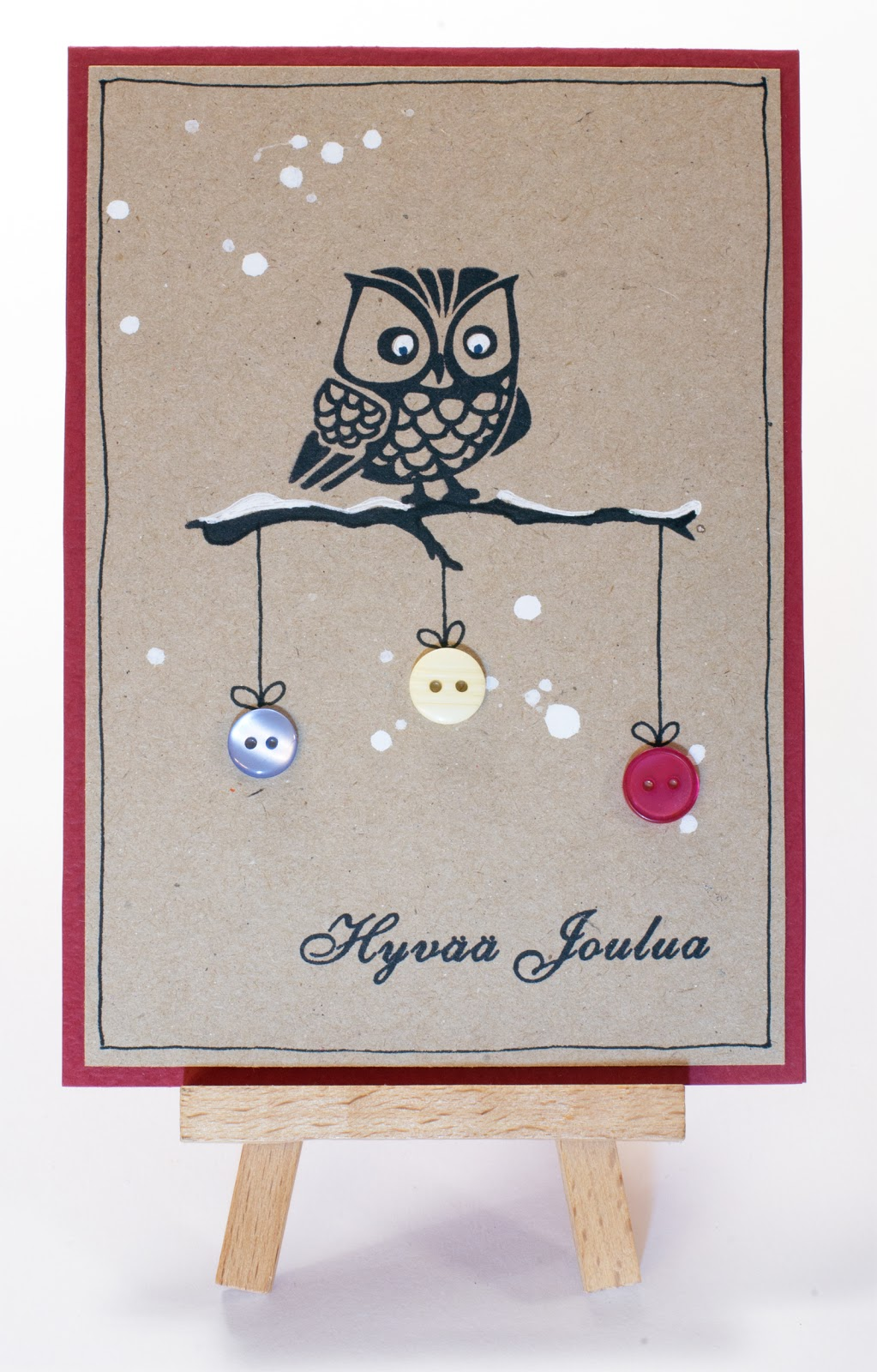 Cardmaking: Simple and easy to make Christmas cards