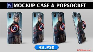 Free Mockup Case dan PopSocket HP