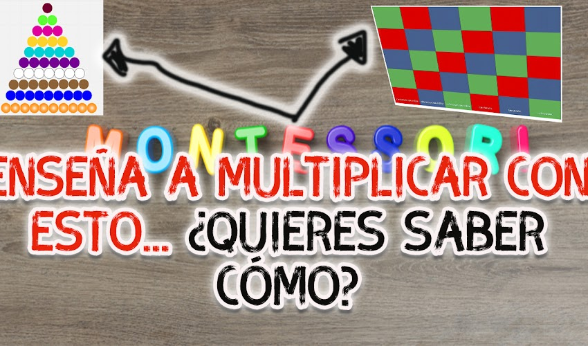 Aprende a multiplicar con el tablero Montessori (Descarga e imprime)