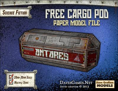 Miniature Cargo Pod Papercraft