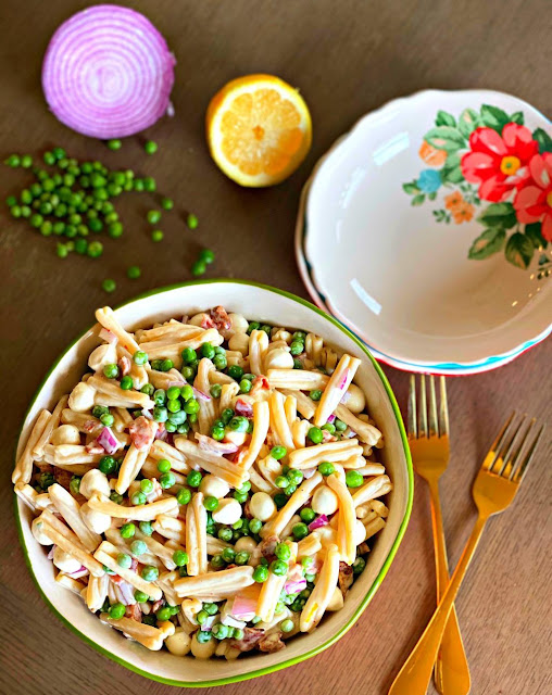Bacon Pea Pasta Salad Recipe