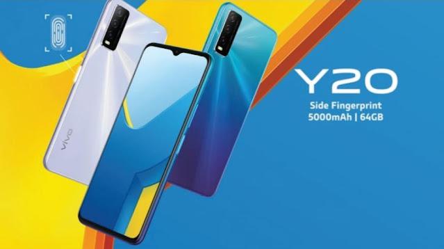 Spesifikasi dan harga VIVO Y20 Terbaru