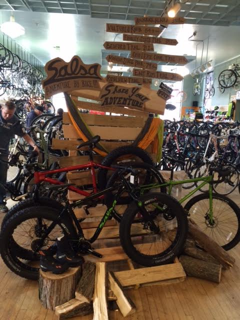 e1fc94d1bfd The folks at the Century Cycles store in Rocky River have set up this cool  display to highlight the fat bikes and touring bikes available from Salsa  Cycles.