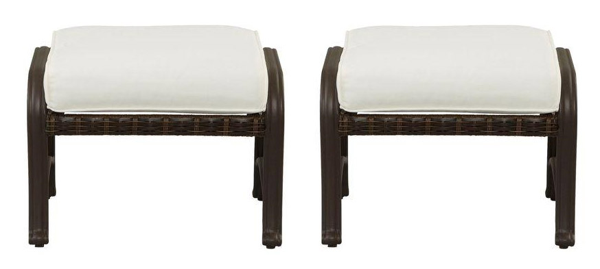Pembrey Patio Ottoman With Cushion Insert 2 Pack Sold The Home Depot