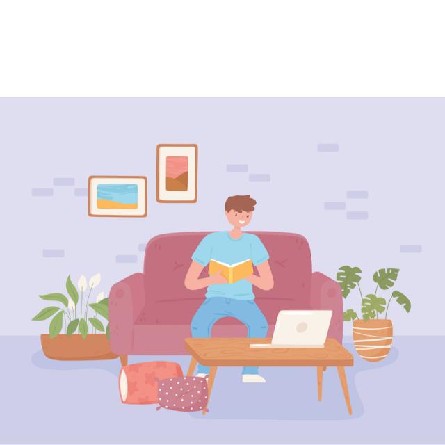 Gambar Kartun Anak Belajar di Rumah (20)