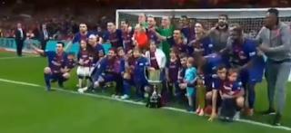 برشلونة يفوز على إشبيلية بخماسية ويحقق البطولة رقم 30 له فى كأس ملك إسبانيا