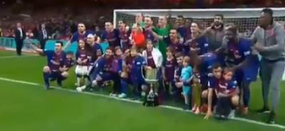 برشلونة يفوز على إشبيلية ويحقق البطولة 30 له فى كأس ملك إسبانيا