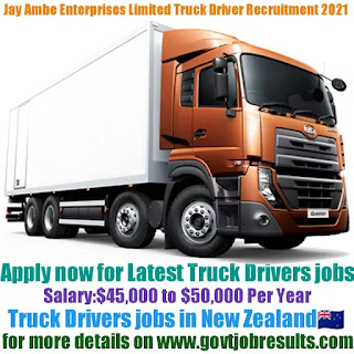 Jayambe Enterprises Limited Delivery Truck Driver Recruitment 2021-22