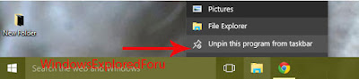 Pin or Unpin a App from taskbar in Windows 10