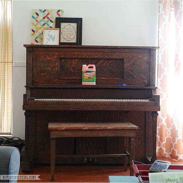 Painted pianos are all the rage, but do you have the courage to take that project on? You should and this is why! The story of my painted piano at my3monsters.com