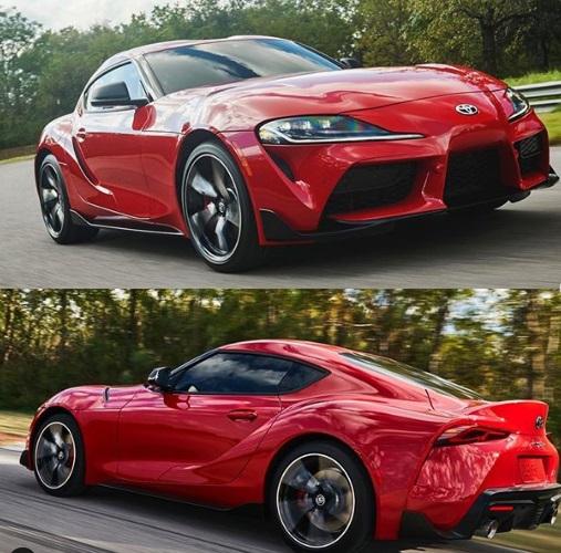 Desain samping dan belakang Toyota Supra