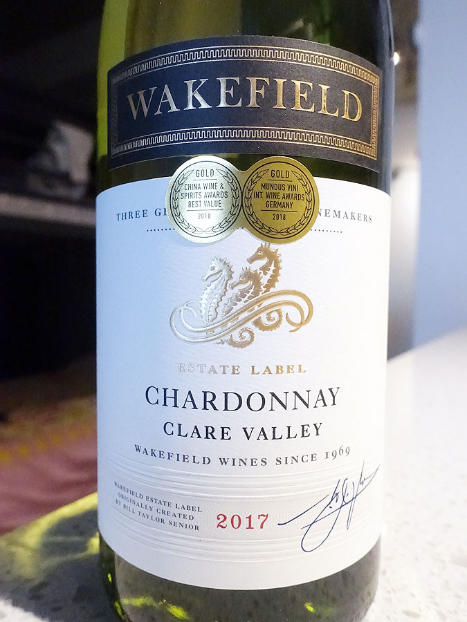 Wakefield Clare Valley Estate Chardonnay 2017 (88+ pts)