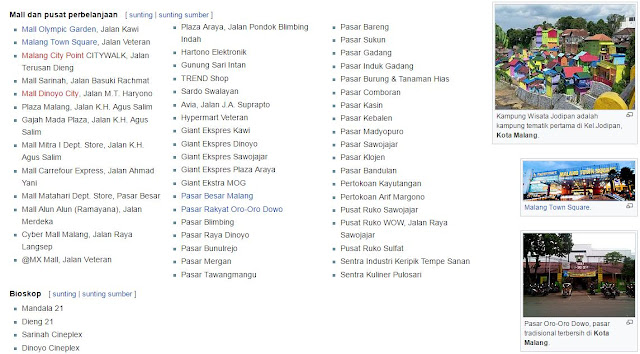 Daftar Mall di Malang