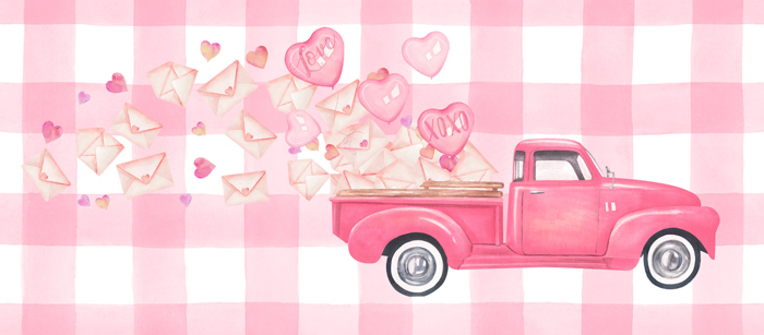 Valentine Truck Facebook Cover