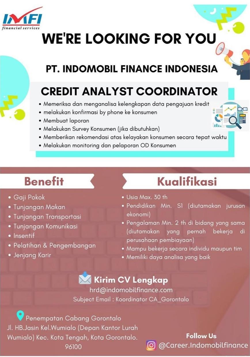 LOWONGAN KERJA PT. INDOMOBIL FINANCE INDONESIA GORONTALO ...