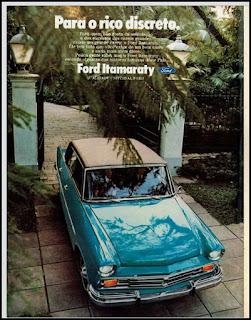 Propaganda Ford Itamaraty - 1971, Ford Willys anos 70, carro antigo Ford, década de 70, anos 70, Oswaldo Hernandez,