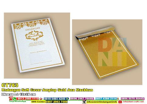 Undangan Soft Cover Amplop Gold Ana Maskhun