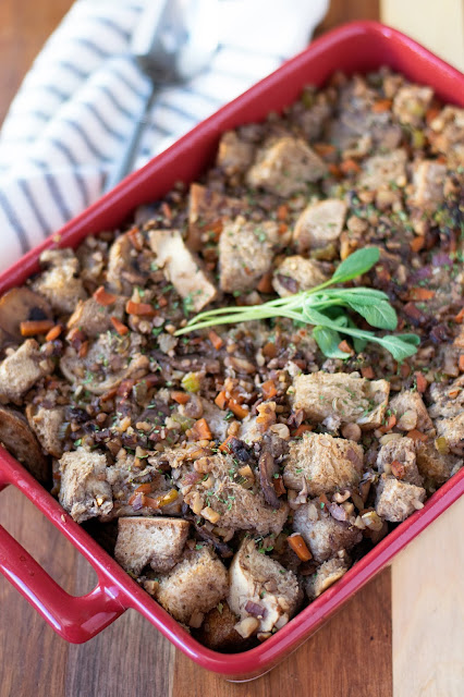 Vegan Stuffing with Walnut Sausage Recipe