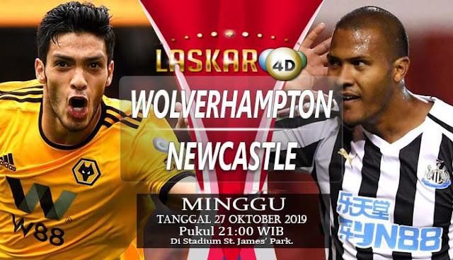 Prediksi Pertandingan Bola Newcastle vs Wolverhampton Minggu 27 Oktober 2019