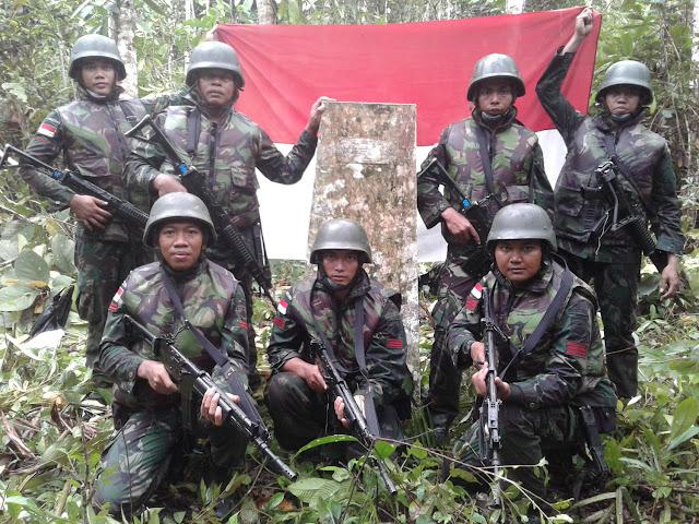 TNI Temukan Patok Batas RI-PNG