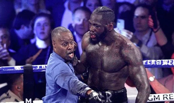 Deontay Wilder Bloodied, Referee