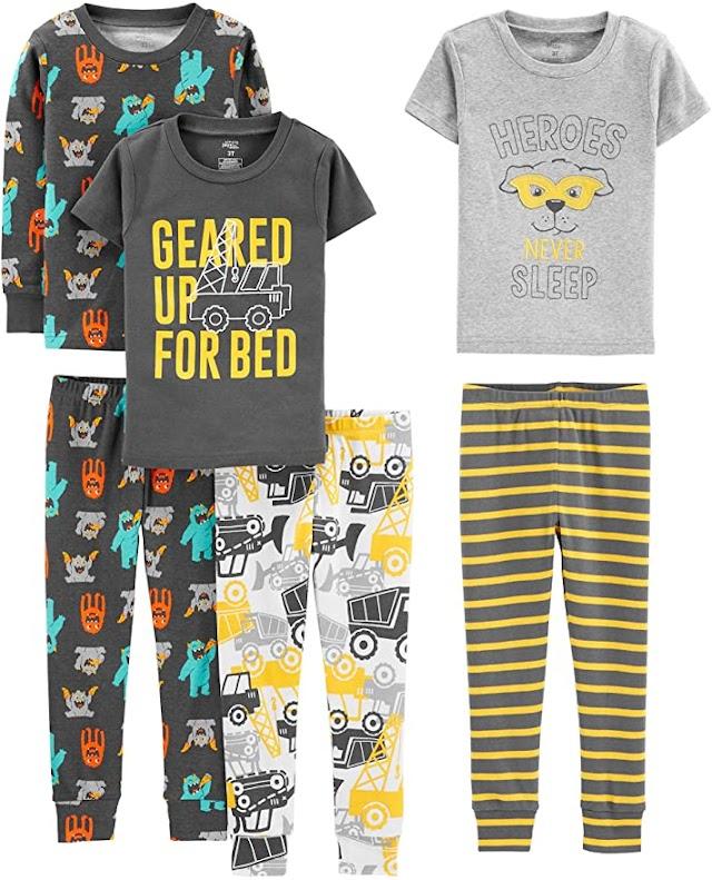 3 conjuntos de pijamas (6 piezas) de algodón para bebés y niños