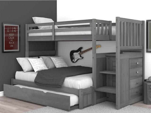 giường tầng tích hợp ngăn kéo thông minh