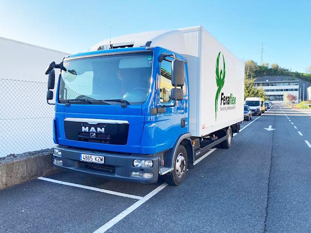 Transporte de mercancía en Donostia